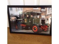 Framed picture of Brewery Lorry