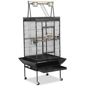 172cm Metal Pet Bird Parrot Canary Cage With Play Roof Top Ladder Chipping Norton Liverpool Area Preview