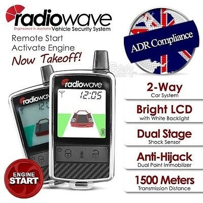 New RADIOWAVE 2 Way LCD Pager Rechargeable Remote Remote Engine Start Car Alarm