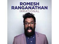 Romesh Ranganathan - London 7 October Apollo - 4 tickets