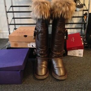 Chic Winter Fur Boots luxury London Ontario image 2