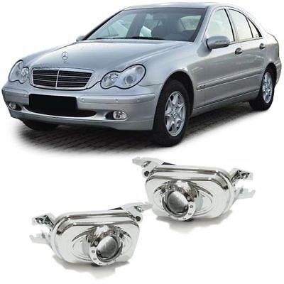 Nebelscheinwerfer 3D Projektor chrom für Mercedes C Klasse W203 + CLK W209