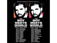 Drake seated ticket Hydro