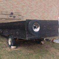 Snow blower, trailer, strong box