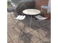 Industrial Style Bistro Set/Garden Table & Chairs