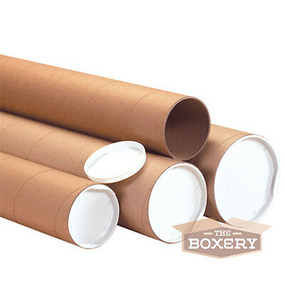 1.5x15'' Kraft Mailing Shipping Packing Tubes 50/cs from The Boxery