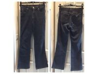 "Armani Jeans Navy Denim Size 27 Cotton - used Length 39"" - Inside leg 30.5""-"