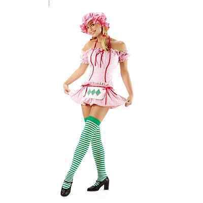 Strawberry Girl 3 piece costume Leg Avenue 8411 sizes s,m - Strawberry Girl Costume