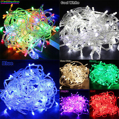 65.6FT 20M 200LED Bulbs Christmas Fairy Party String Lights Waterproof - US Plug