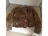 NEXT brown leather jacket size 12