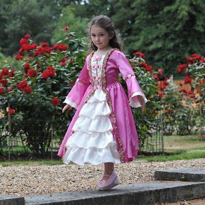 Girls Marie Antoinette Gown Age 6-8 Period Fancy dress costume Travis Designs