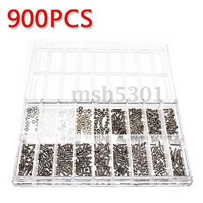 900x Schrauben mini Schraube Uhrmacher Uhrmacherwerkzeug für Brille Handy Uhren