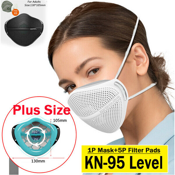 Washable Face Mask +Filter Pads Mouth Nose Separate Anti Haze Fog Reusable