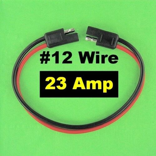 SAE Quick Connect Disconnects Waterproof #12 AWG Gauge Wire Cable 12 V Plugs NEW