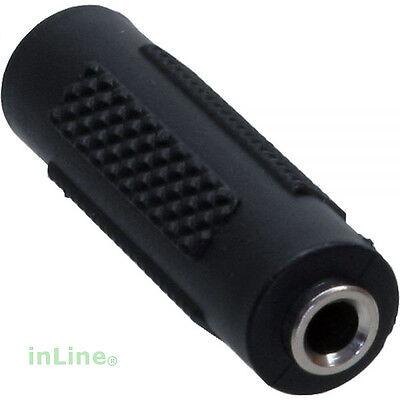 InLine® Audio Adapter 3,5mm Klinke Buchse - Buchse Stereo Kupplung Verbinder
