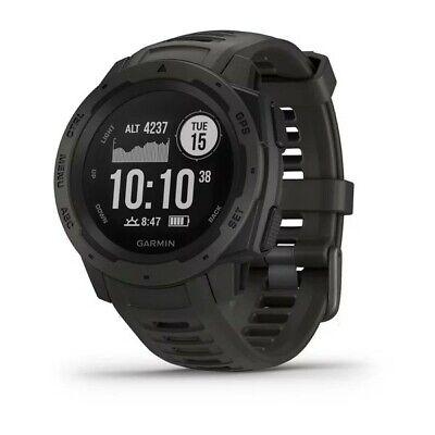 Garmin Instinct Rugged Outdoor GPS Smart Watch Graphite Graphite Heart Rate Monitor