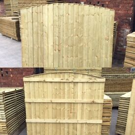 🛠Heavy Duty Arch Top Feather Edge Fence Panels * Timber🌳