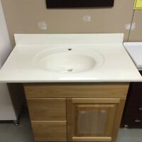 """40"""" cultured marble top-Clearance"""