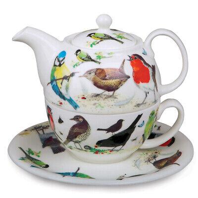 Roy Kirkham Tee für einen Set Gartenvögel Teekanne Untertasse Tasse Eine Teekanne Set