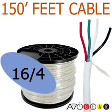 150 Feet 16/4, 4 Conductor 99.99% Copper Speaker Wire Cable FT4 in-wall UL CL3