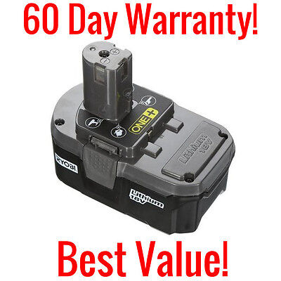 Genuine Ryobi One  P105 18 Volt Lithium Ion Replacement Battery 18V 48Wh Li Ion