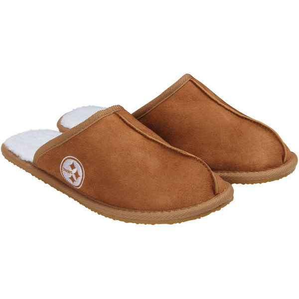 Forever Nfl Pittsburgh Steelers Moccasins Open Back Slippers