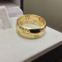 New AUTH in Box GUCCI RING YELLOW 18K GOLD