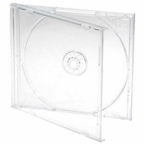 100 Standard 10.4 mm Jewel Case Single CD DVD Disc Storage Assembled Clear Tray