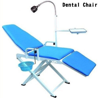 Dental Lab Portable Chair Cold Light Cuspidor Tray Equipment Mobile Unit