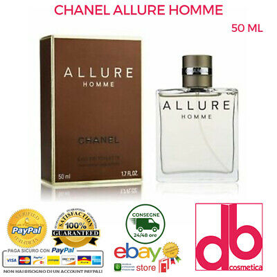 ALLURE HOMME CHANEL EAU DE TOILETTE EDT UOMO 50 ML PROFUMO VAPO...