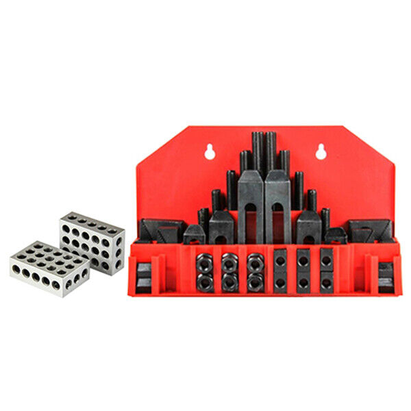 All Industrial 1 Matched Pair 1-2-3 Block Set 23 Holes & 7/16 58 Pc Clamping Kit
