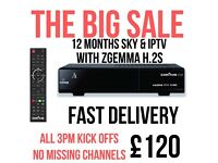 Zgemma H2S WITH SATELLITE AND IPTV FOR 12 MONTHS