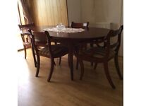 Solid Wood Dining Suite and Avalon Bookcase