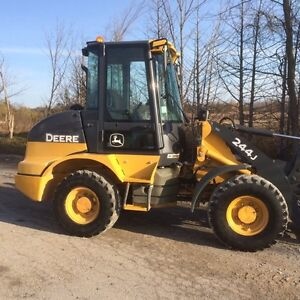 JOHN DEERE 244J LOADER WITH SNOW BUCKET AND FORKS Peterborough Peterborough Area image 1