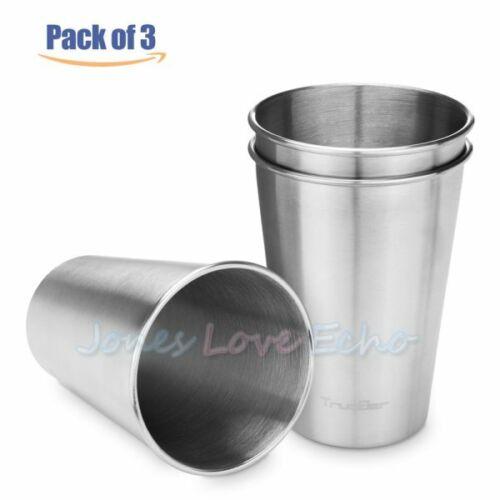 3PCS 500ml Camping Tumbler Pint Beer Cup Drinking Mug Metal