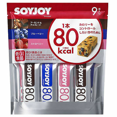SoyJoy 80kcal 9pcs Fruits Snack Bar 3 taste Healthy Soybean nutritional food b82