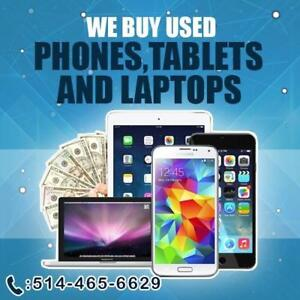 Pay CASH$$ for Old Laptops, Smartphones and Tablets.
