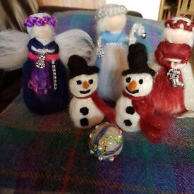 Hand made Felted Christmas decorations