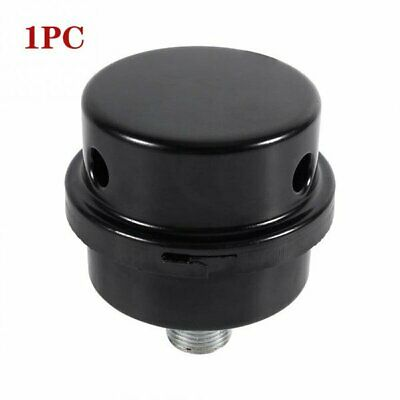 Black Metal Air Compressor Intake Filter Noise Muffler Silencer Thread 38 16mm