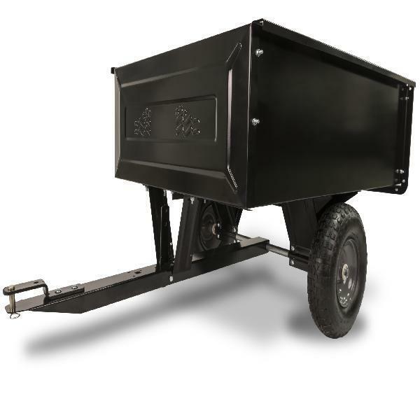 Steel Dump Cart Garden Yard Lawn Mower Tractor Trailer 10 Cu