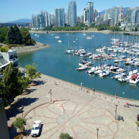 Magnificent large condo on False Creek. Rare opportunity to rent