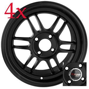 Drag Wheels DR-21 15x7 4x100 Flat Black Full Rims For nissan cube Civic corolla