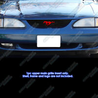 1994-1998 Ford Mustang Grille - Logo Area Trimmed