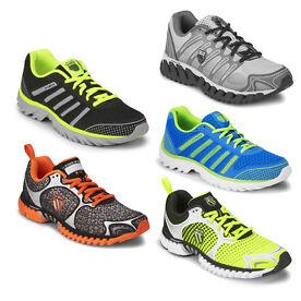 K-Swiss Mens Blade - Light Running Shoes - Silver/Charcoal/Volt Green - KS