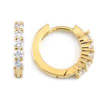 14k yellow gold round diamond earrings(0.25ct tdw, 1.5g) #3332