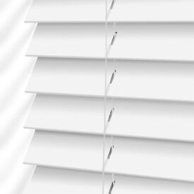 White wooden Venetian blinds 50mm slat