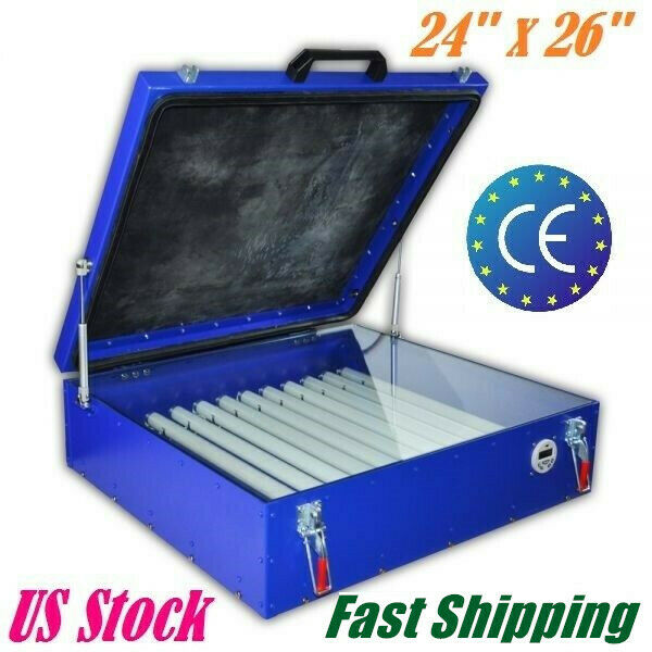 "240W Vacuum Exposure Unit 24"" x 26"" Precise Screen Printing Compressor Outside"