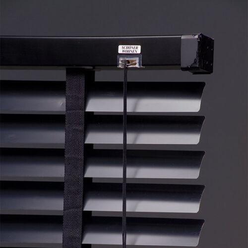 Schöner Wohnen Aluminium Jalousie 50mm schwarz Rollo Jalousette Sonnenschutz