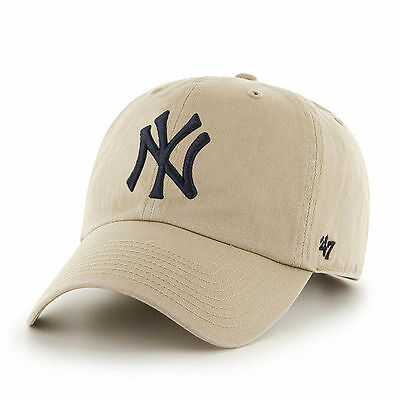 47 BRAND NEW Men's New York Yankees Cap Khaki Clean Up BNWT