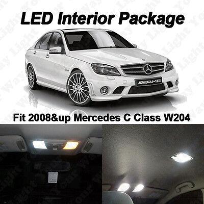 9 x White SMD LED Interior Lights Kit For Mercedes Benz W204 C250 C300